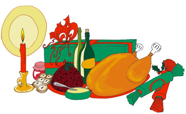 gourmet hamper graphic design food illustration