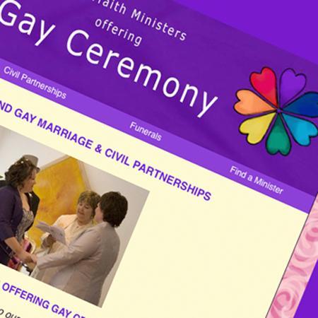 Gay Ceremonies - Sample website from Allison Carmichael