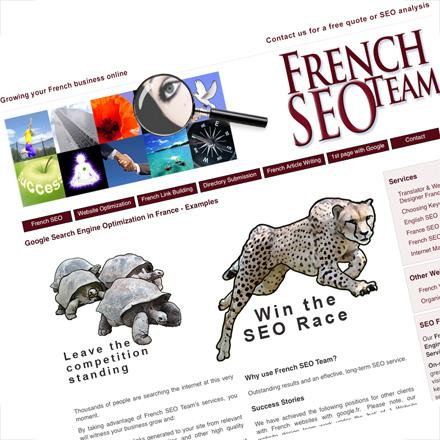 Web design for French SEO Team